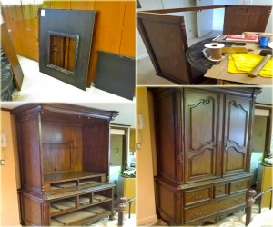 Disassemble armoire