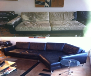 Leather sectional colro change