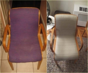 arm chair re-upholstery