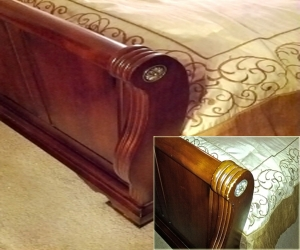 bed wood footbaord restoration finsih