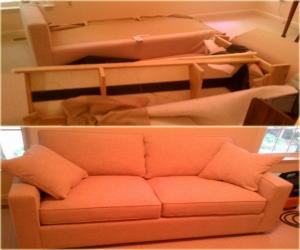 sofa disassembling